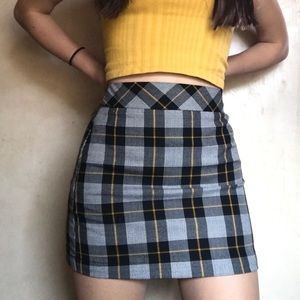 cute plaid mini skirt <3